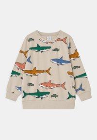 Lindex - MINI SHARK UNISEX - Sweatshirt - beige - 0