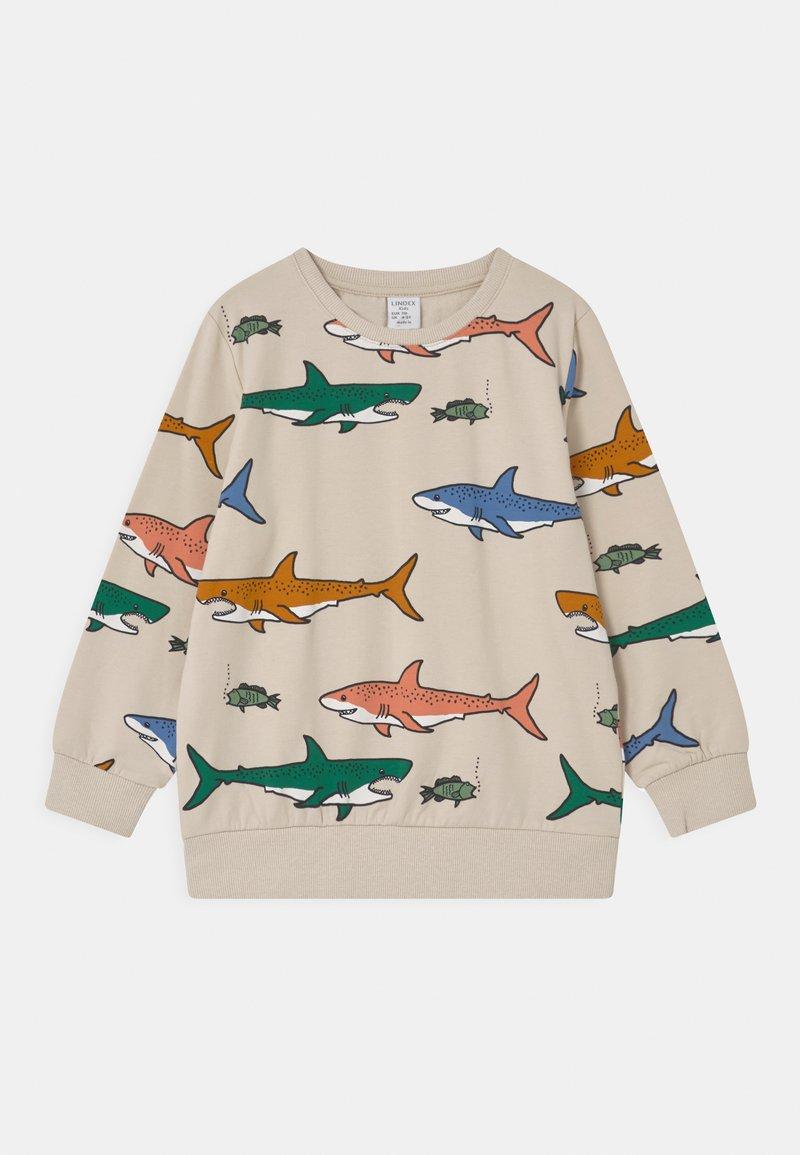 Lindex - MINI SHARK UNISEX - Sweatshirt - beige