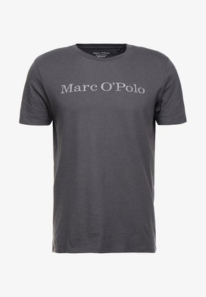 T-shirt print - gray pinstripe