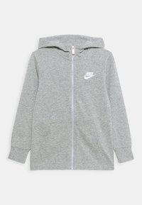 Nike Sportswear - NEW HOODIE UNISEX - Zip-up hoodie - grey heather/white - 0