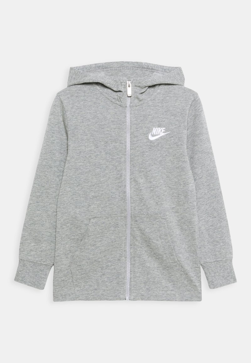 Nike Sportswear - NEW HOODIE UNISEX - Zip-up hoodie - grey heather/white