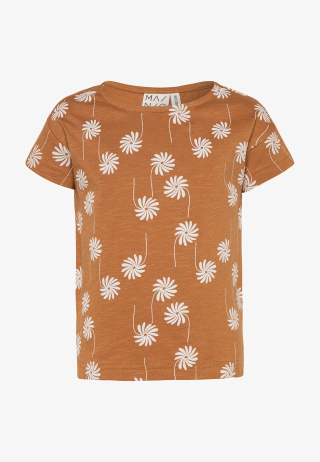 T-shirt con stampa - bone brown