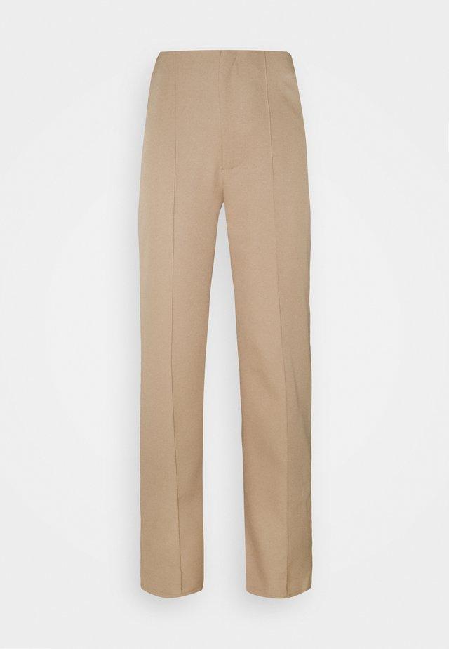 SEAM STRAIGHT LEG TROUSER - Pantalon classique - stone