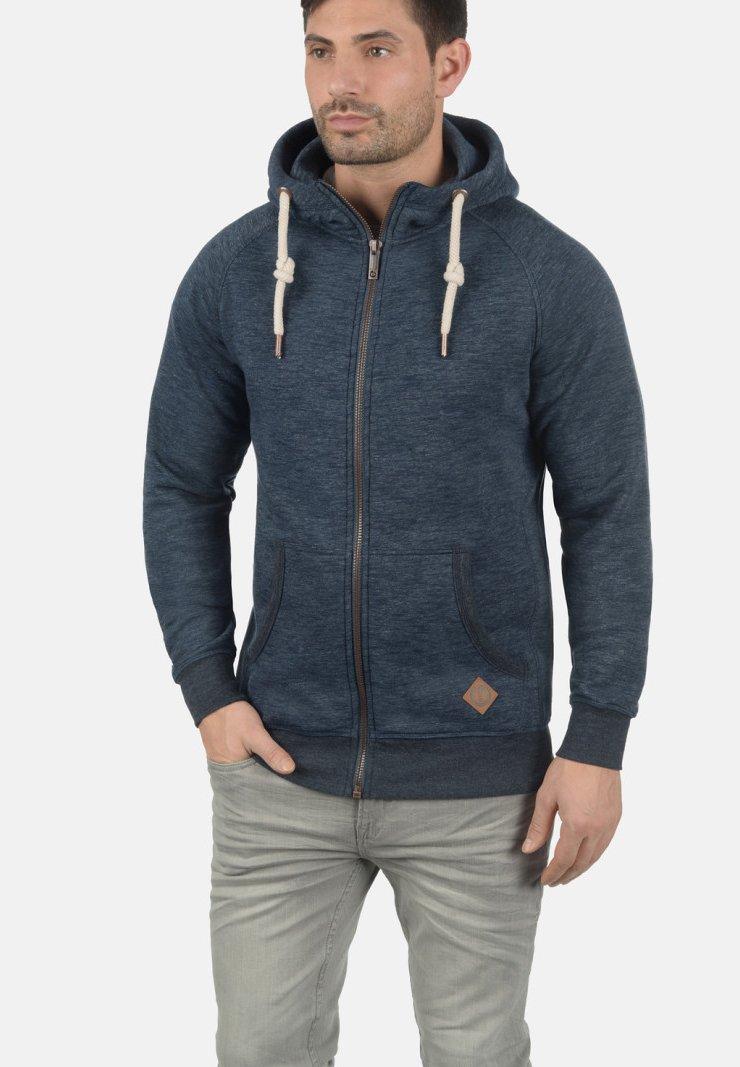 Solid - VITU - Sweat à capuche zippé - blue
