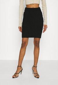 WAL G. - ZARRAH LOUNGE SKIRT - Mini skirt - black - 0