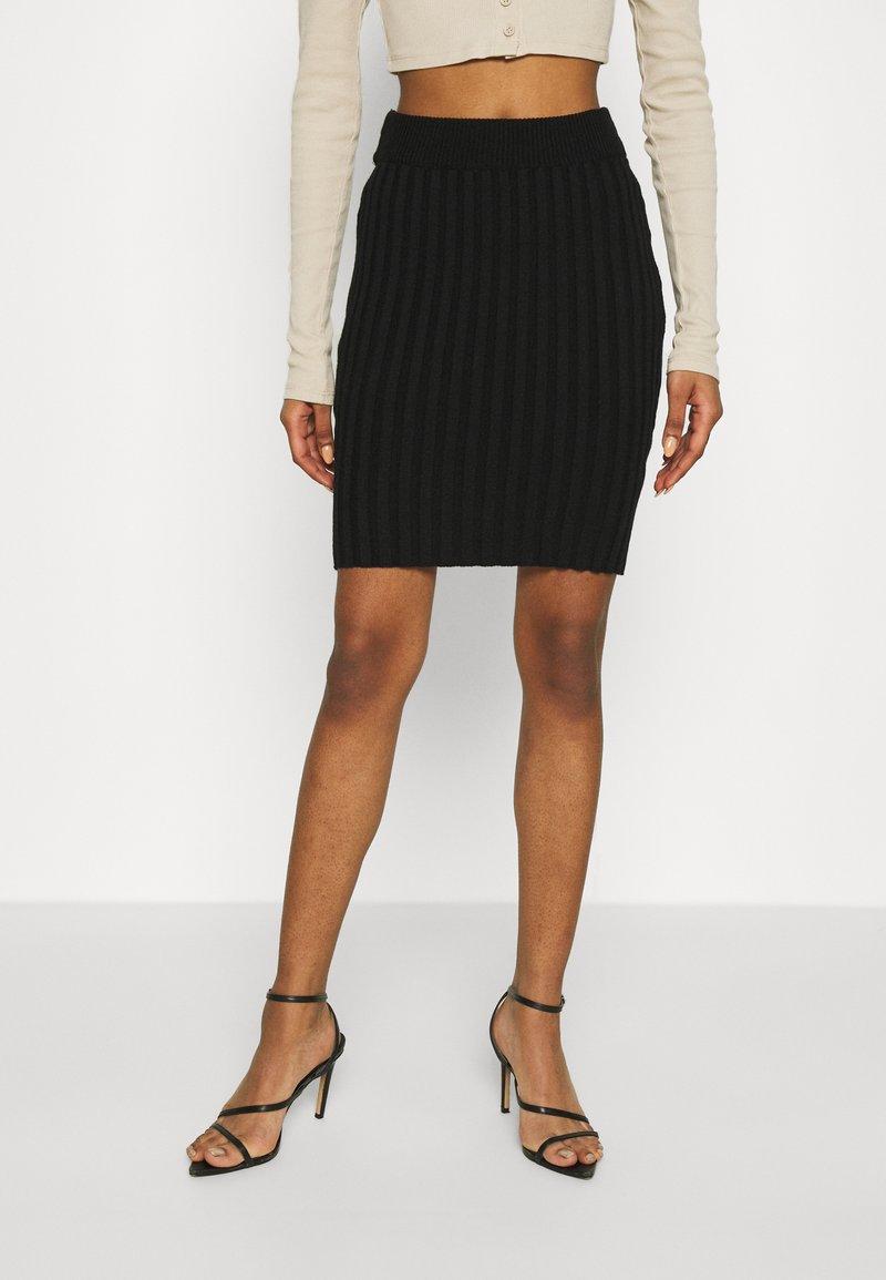 WAL G. - ZARRAH LOUNGE SKIRT - Mini skirt - black