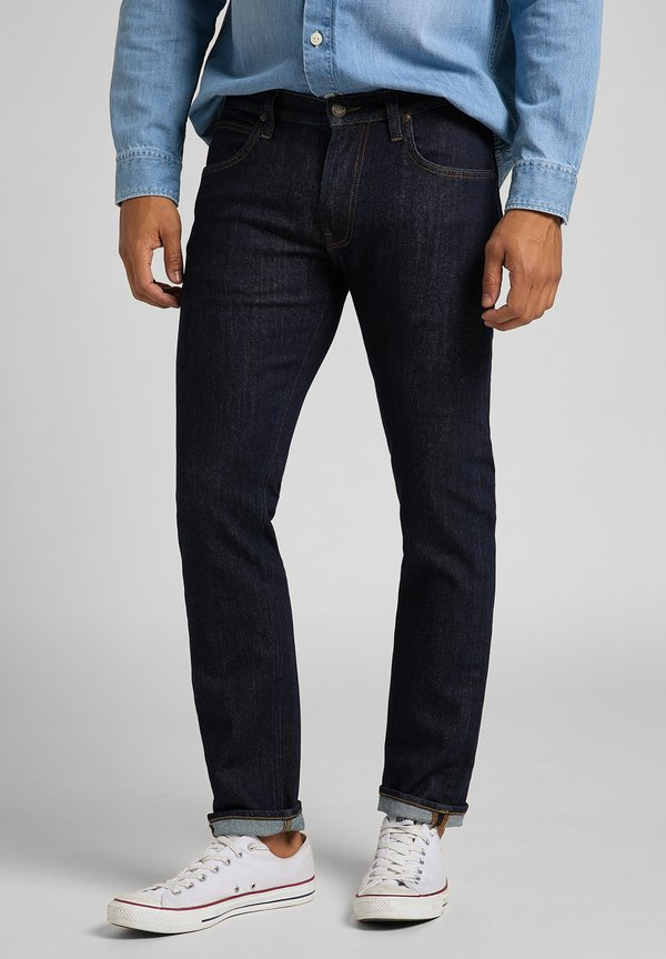 Lee DAREN ZIP FLY - Jeansy Straight Leg - rinse/czarnoniebieski denim Odzież Męska PIRN