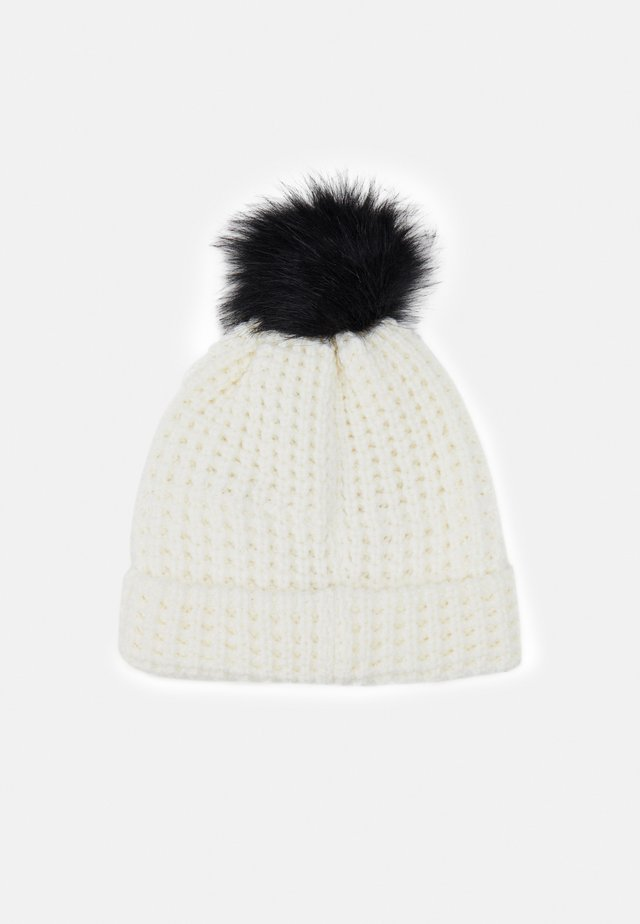 SWIFT BEANIE - Bonnet - white/black