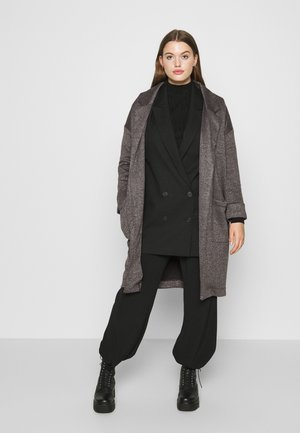PCDORITA COATIGAN - Kåpe / frakk - dark grey melange