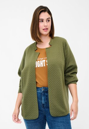 OFFENER IN  - Cardigan - ivy green