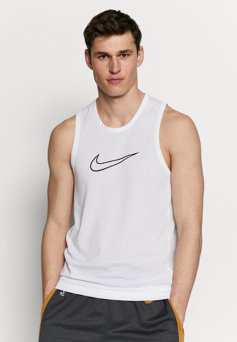 Nike Performance - DRY CROSSOVER - Koszulka sportowa - white/black