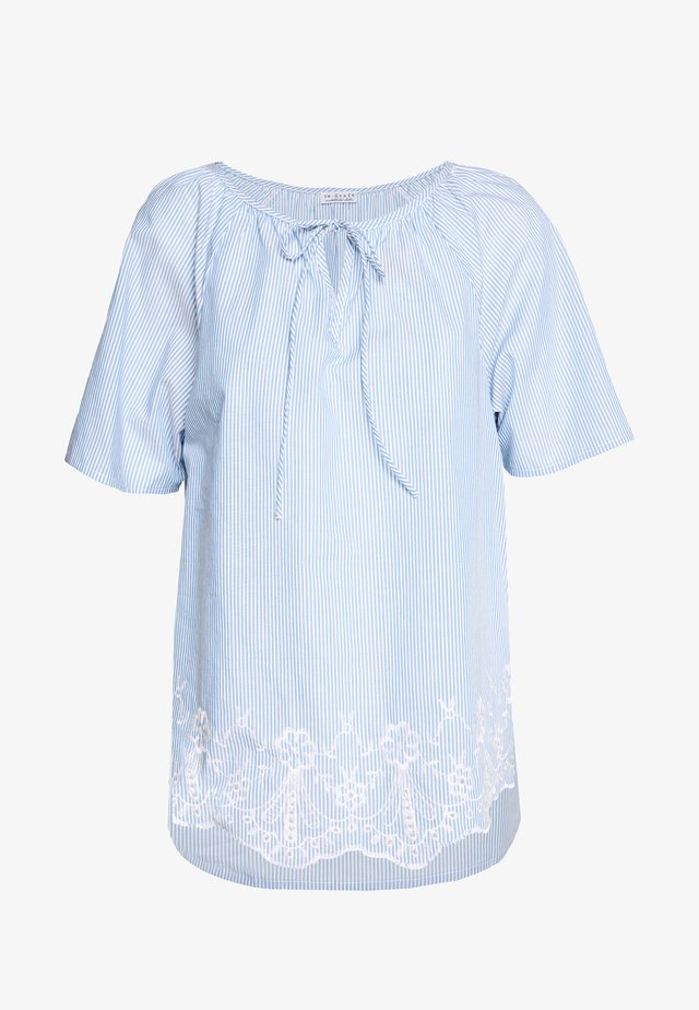 STRIPED TUNIC BLOUSE - Camicetta - light blue