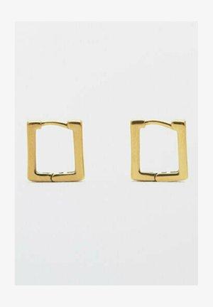 KASTENFÖRMIGE WASSERABWEISEND - Earrings - gold
