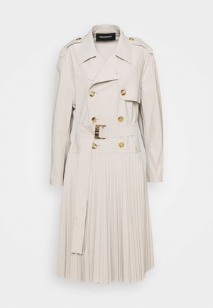 HYBRID COAT WITH SOLEIL PLEATED SKIRT - Trenssi - safari