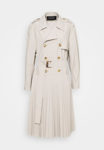 HYBRID COAT WITH SOLEIL PLEATED SKIRT