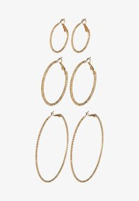 ONLHELLE 3 PACK CREOL EARRINGS - Earrings - gold-coloured