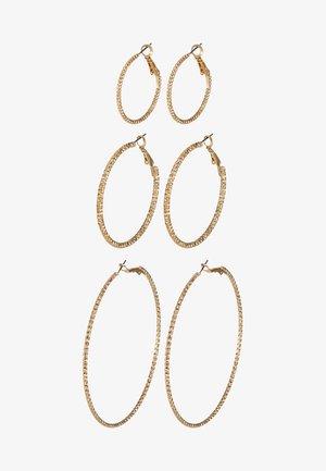 ONLHELLE 3 PACK CREOL EARRINGS - Øredobber - gold-coloured