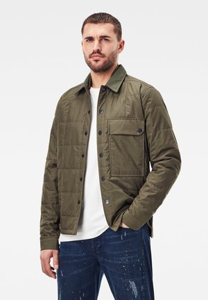 QUILTED OVERSHIRT - Light jacket - combat