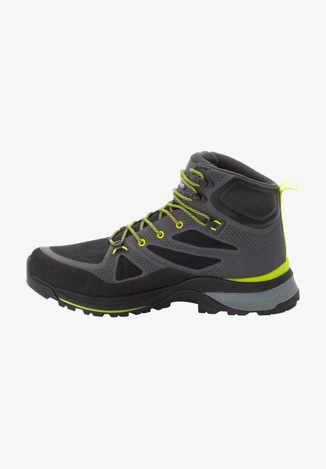 Hiking shoes - dark grey/lime