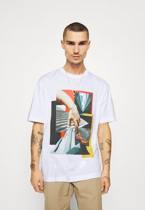 BUILD - T-shirt con stampa - white