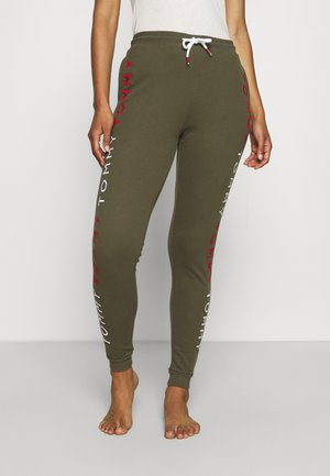 EMBROIDERY TRACK PANT - Pyjama bottoms - army green