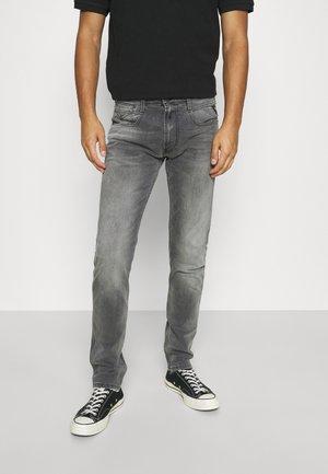 ANBASS - Jean slim - grey denim