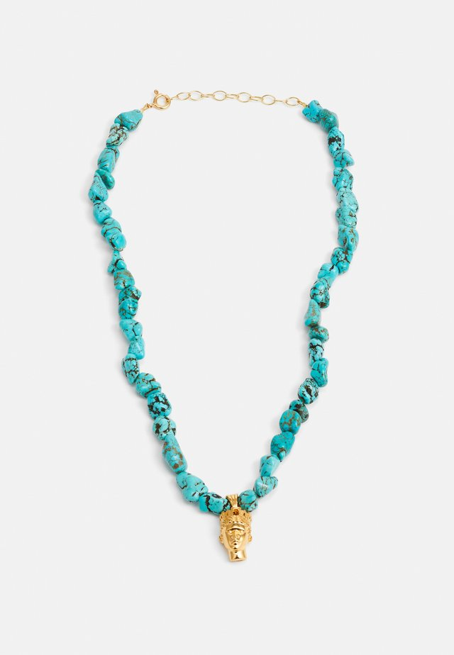 TÝCHE NECKLACE - Halskæder - gold-coloured/turquoise