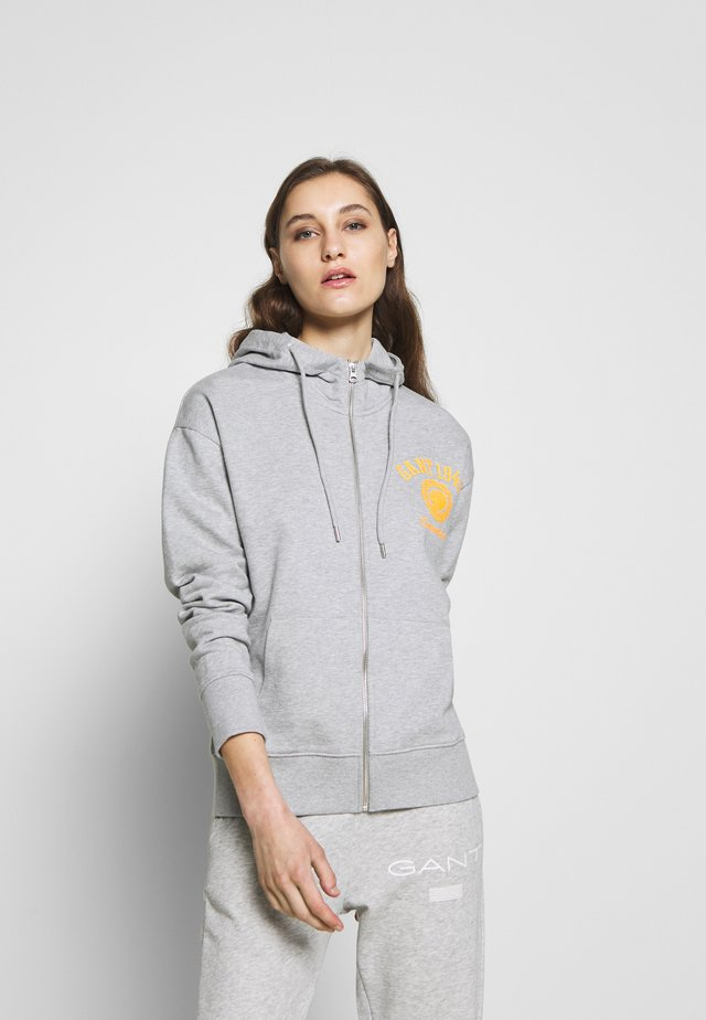 PEONY - Zip-up hoodie - light grey melange