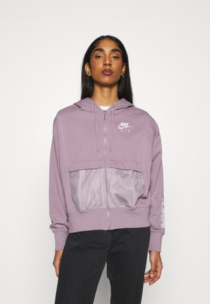 veste en sweat zippée - purple smoke/white