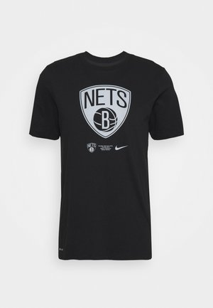 NBA BROOKLYN NETS DRY LOGO TEE - Vereinsmannschaften - black