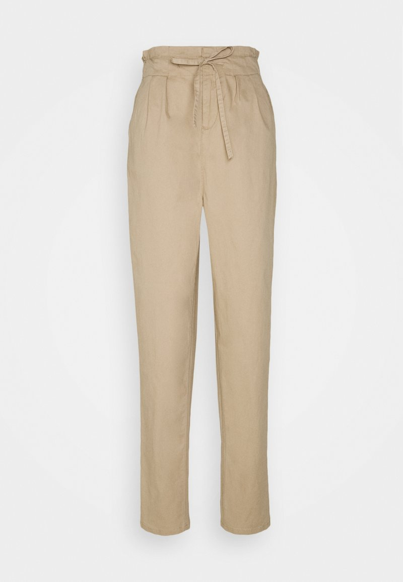 Vero Moda Tall - VMEVANY STRING ANKLE PANT - Trousers - beige