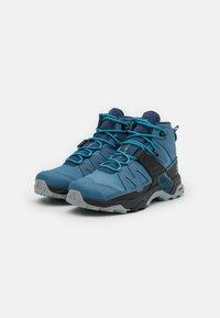 Salomon - X ULTRA 4 MID GTX - Hiking shoes - copen blue/black/dark denim - 1