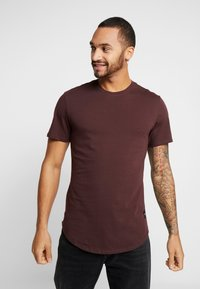 Only & Sons - ONSMATT LONGY 7 PACK - Basic T-shirt - dark blue/bordeaux/khaki - 1