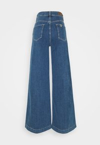 Liu Jo Jeans - PANT FLARE BROAD - Flared Jeans - denim blue fringed - 1