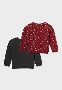 C&A - 2 PACK - Sweatshirt - gray / dark red - 1