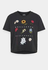Hollister Co. - Print T-shirt - phantom black - 0