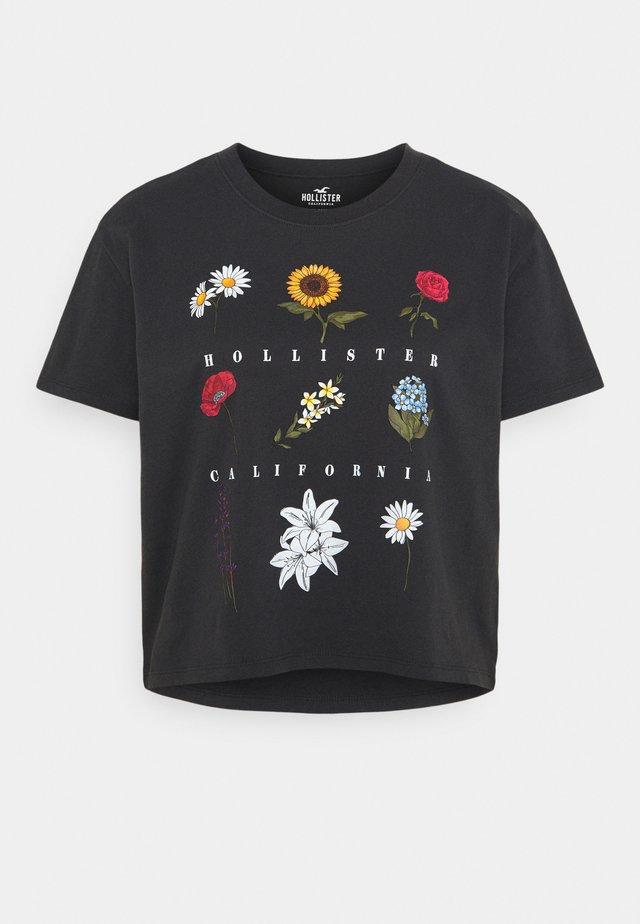 T-shirt imprimé - phantom black