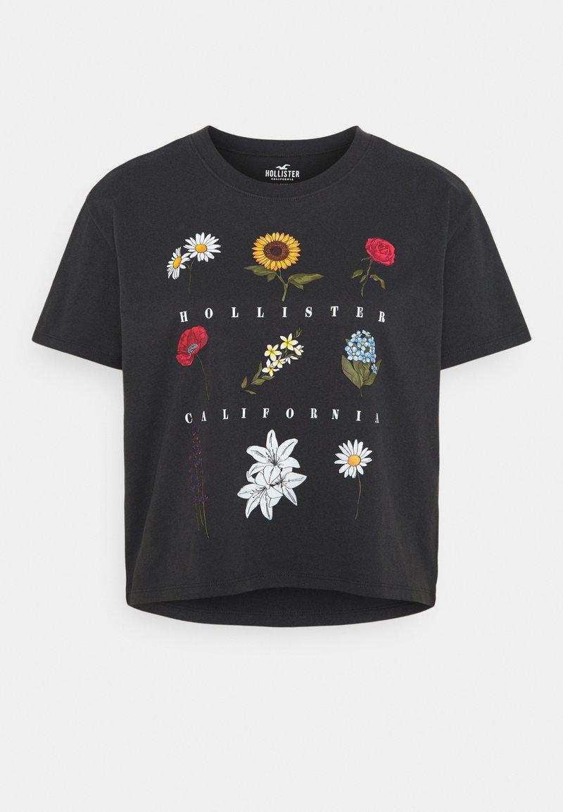 Hollister Co. - Print T-shirt - phantom black