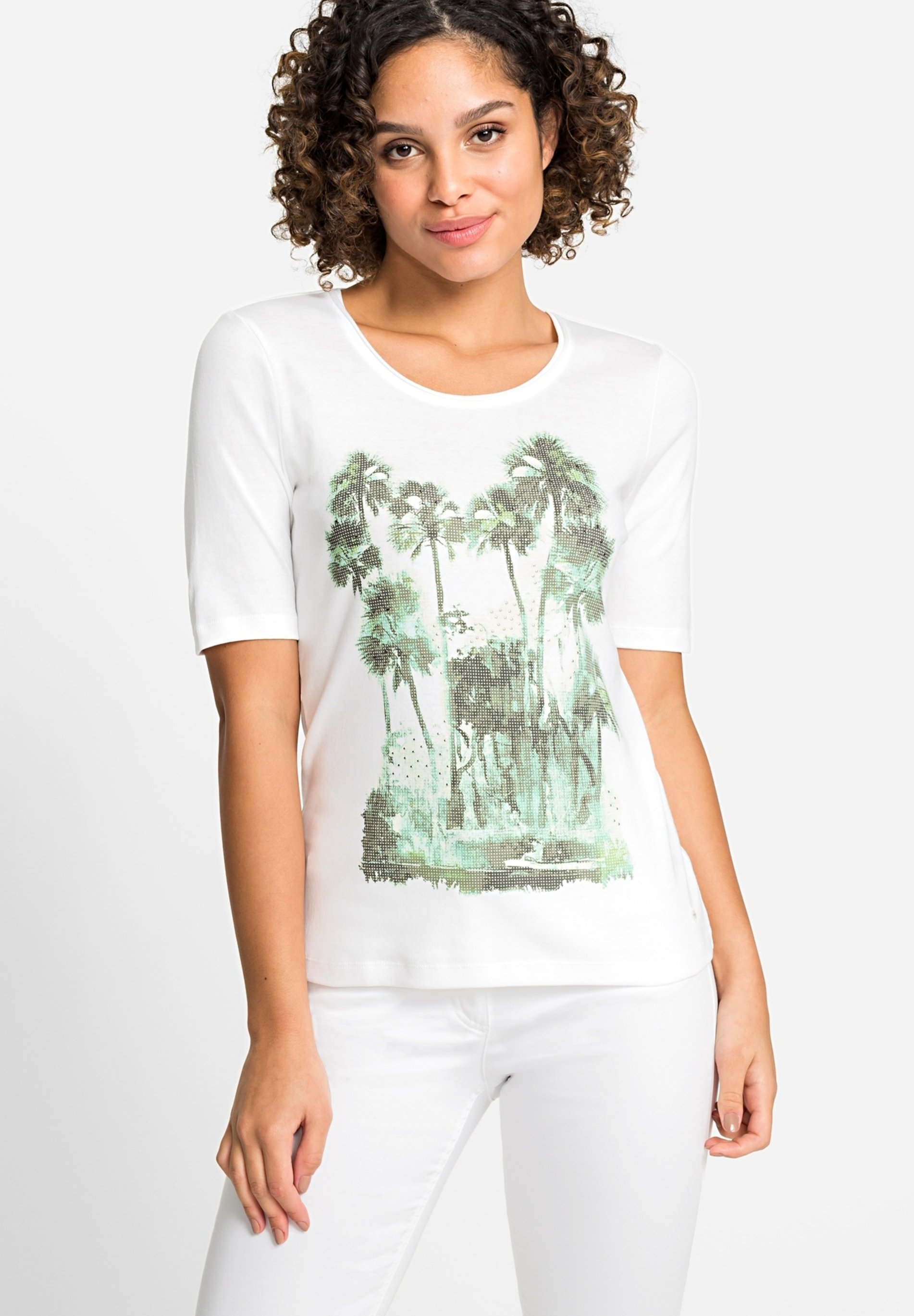 Damen WITH PALM ON THE FRONT - T-Shirt print