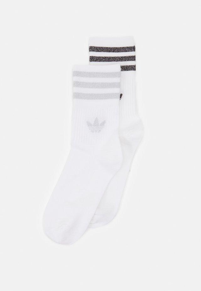 UNISEX 2 PACK - Socks - white/silver