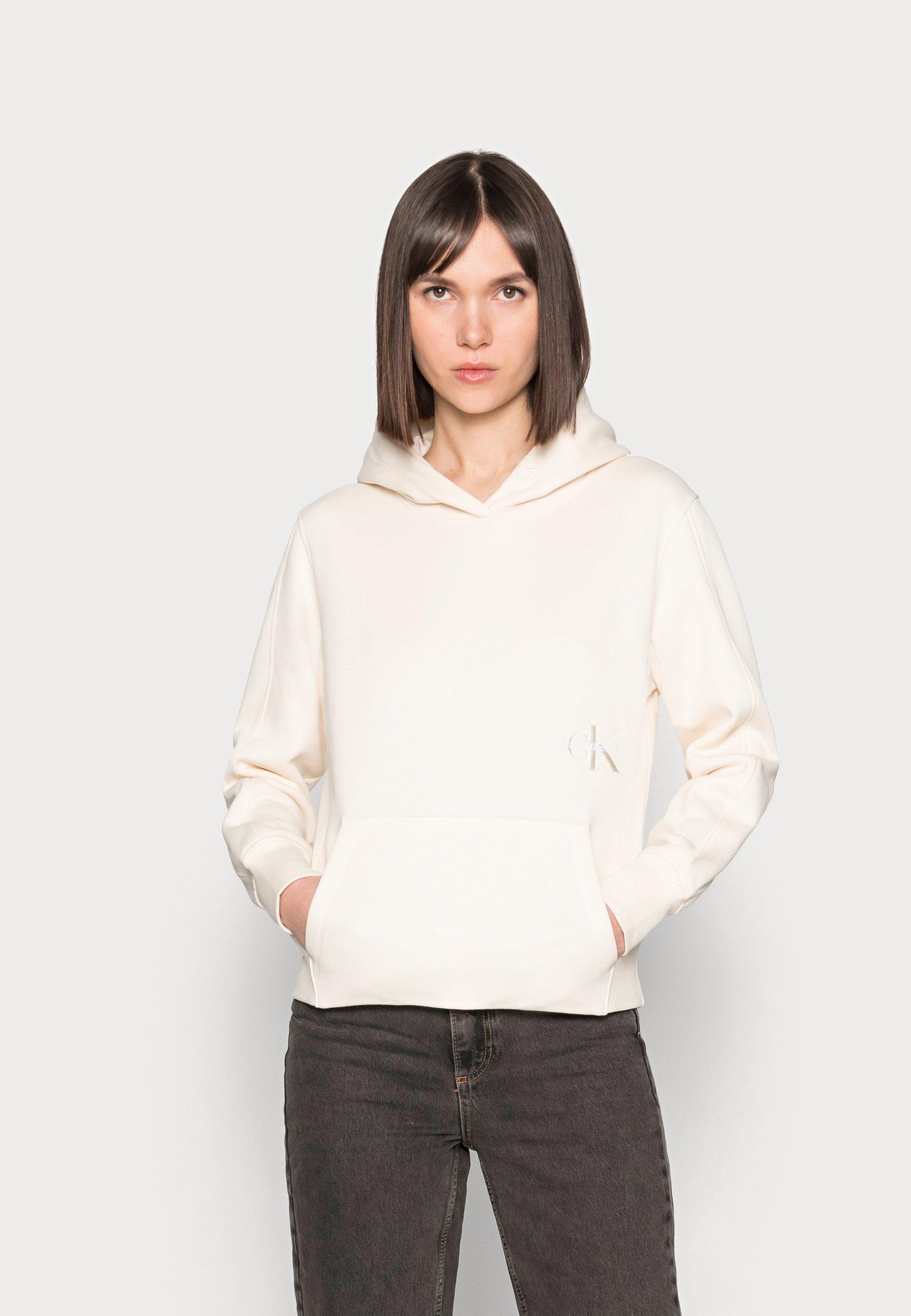 Women OFF PLACED MONOGRAM HOODIE - Long sleeved top