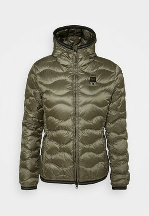 BASIC WAVE HOOD - Down jacket - olive