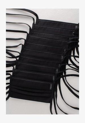 10 PACK - Stoffmaske - schwarz