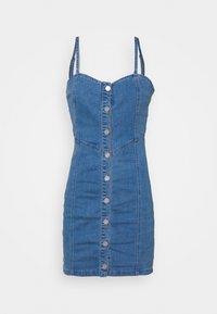 Missguided - BUTTON THROUGH CAMI DRESS - Denimové šaty - blue - 3