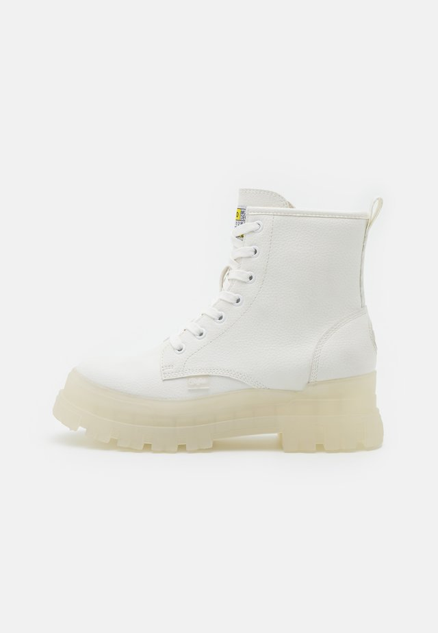 VEGAN ASPHA - Lace-up ankle boots - white