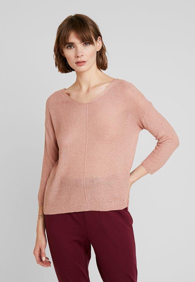 ONLTHEA V NECK LIGHT - Jersey de punto - misty rose