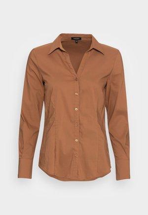 BLOUSE SLEEVE - Button-down blouse - walnut