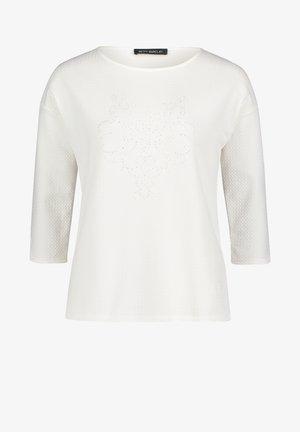 MIT SCHMUCKSTEINEN - Sweatshirt - rohweiß