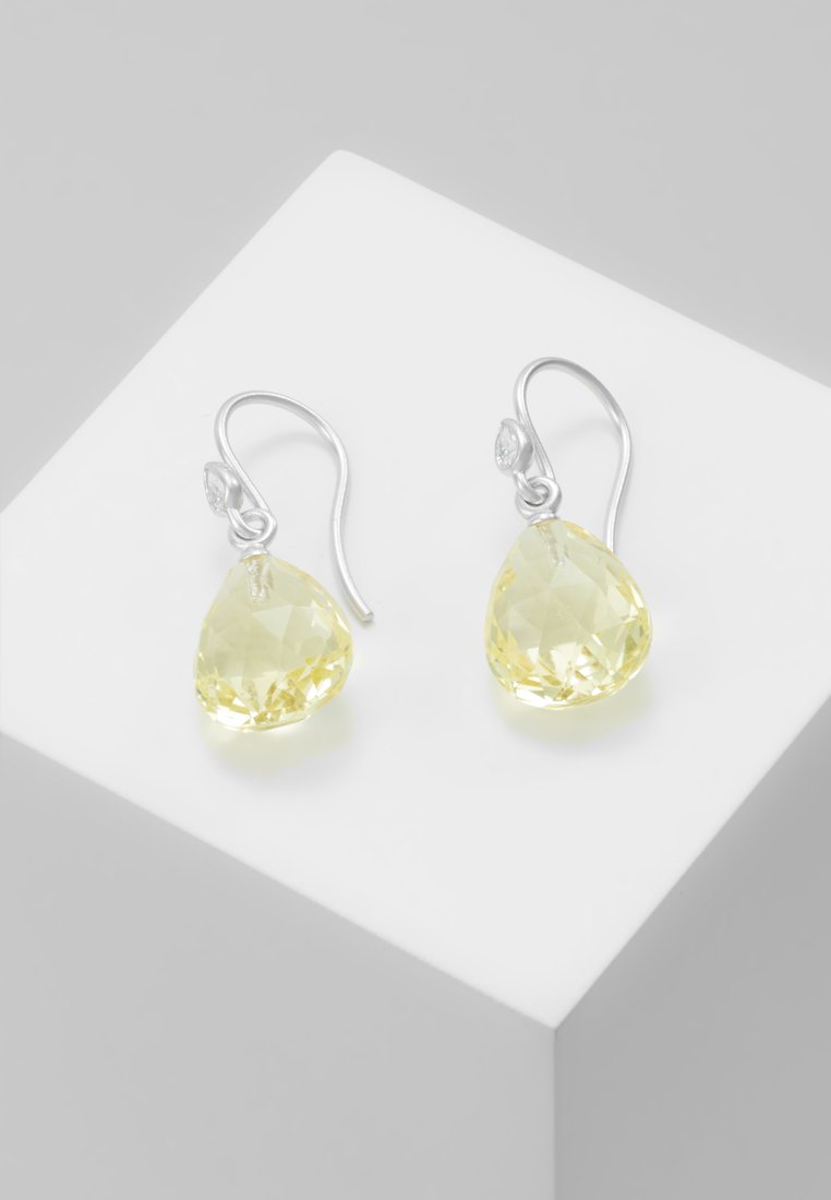 Julie Sandlau - BALLERINA EARRINGS - Ohrringe - lemon/crystal