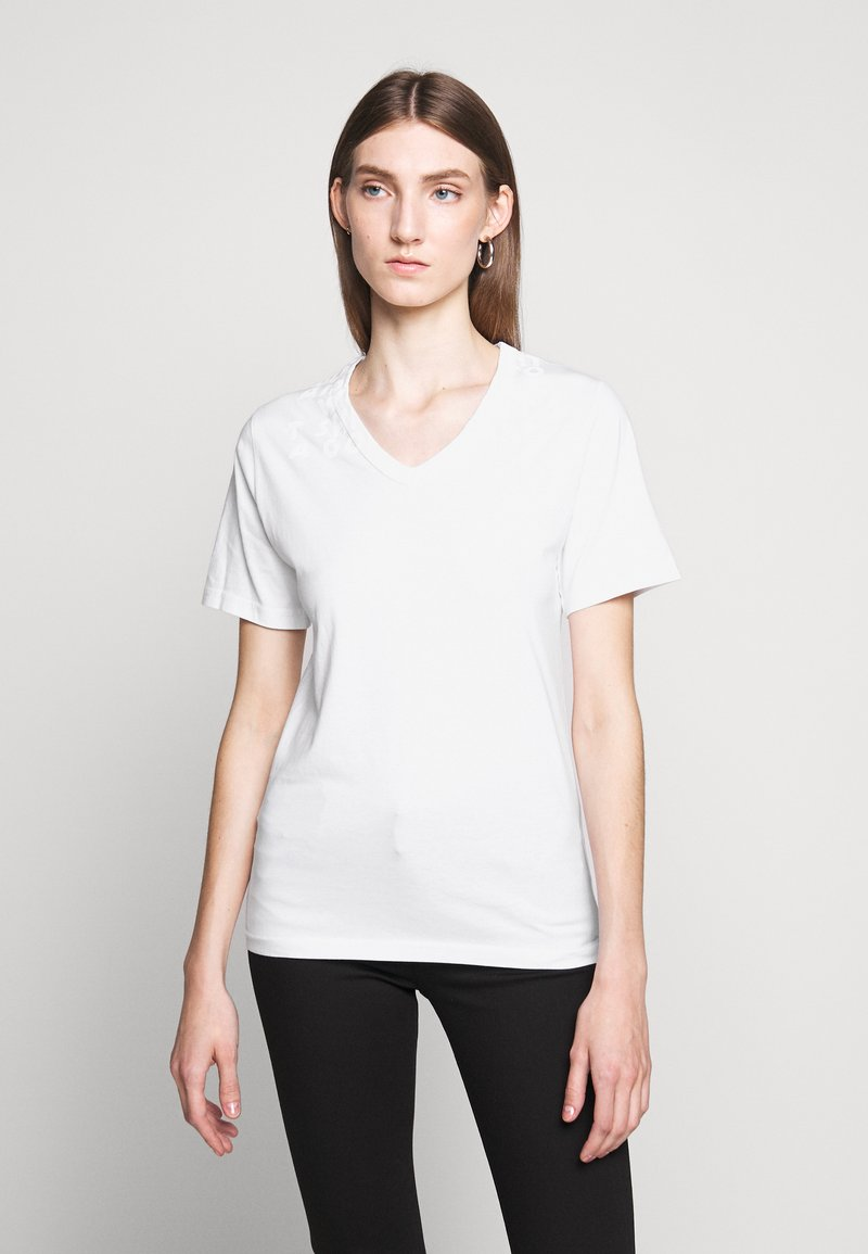 MM6 Maison Margiela - SHORT SLEEVES - Triko s potiskem - white